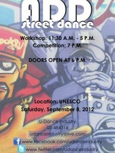 ADD Street Dance at UNESCO Palace, Workshop or Class, The Artistic Dance Department of the Lebanese Dance Council presents ADD Street Dance, a five-style dancing workshop that will be followed by a dancing competition. Join them to compete with several d...