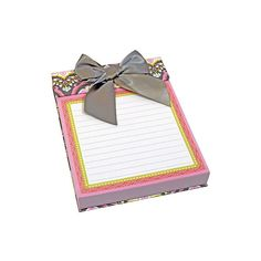 Anna Griffin Turkish Delight Note Pad ($17) ❤ liked on Polyvore featuring home, home decor and stationery