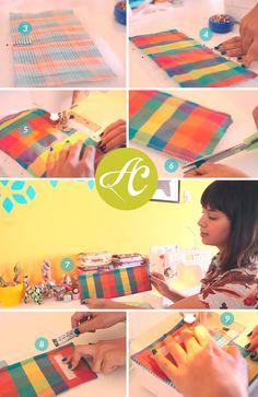 Mini carteira de tecido carteirinha de tecido costura A Costureirinha Coats Corrente Passo a passo Youtube Porta Cartões