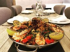 An amazing seafood paella cooked by our chef at Chalet La Colombe, Courchevel This went down a storm with our guests! Courchevel 1850, Seafood Paella, Green Eggs, Wine Charms, Food For A Crowd, Gourmet Recipes, Menu, Dishes, Cooking