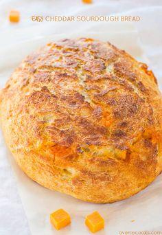 Easy Cheddar Sourdough Bread