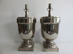 Pair Of Chapman Mid-Century Modern Silver Urn Lamps. by FLORIDAMODERN on Etsy