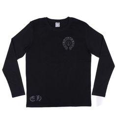 Chrome Hearts Horseshoes Print Long T-Shirt Black