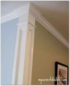 Corner molding - Beautiful way to separate your wall colors! - Click image to find more Home Decor Pinterest pins