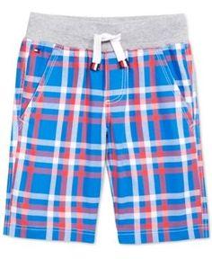 Tommy Hilfiger Cotton Plaid Shorts, Toddler & Little Boys (2T-7) - Blue 7