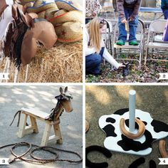 Country-western, farm, and Toy Story parties are super popular right now – but what to do to entertain all those little cowboys and cowgirls? ; ) Here are some of my favorite games and ideas: 1. Make your own stick horse – Create heads out ...