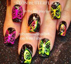 butterfly nail art - Buscar con Google