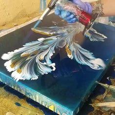 Diy Canvas Art, Diy Wall Art, Wall Canvas, Canvas Prints, Resin Wall Art, Wall Art Crafts, Cool Wall Art, Create Canvas, Wall Art Decor