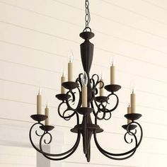 Astoria Grand Windsor Rise Candle Style Classic / Traditional Chandelier with Crystal Accents Chandelier For Sale, Lantern Chandelier, Chandelier Lighting, Chandeliers, Rectangular Chandelier, Farmhouse Chandelier, Globe Lights, Room Lights, Birch Lane