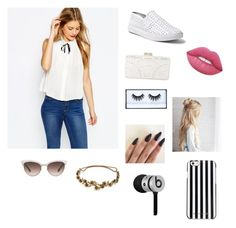 """""""Casual"""" by faithbrooks-gymnastics ❤ liked on Polyvore featuring ASOS, Steve Madden, BCBGMAXAZRIA, Lime Crime, MICHAEL Michael Kors, Gucci, Jennifer Behr and Beats by Dr. Dre"""