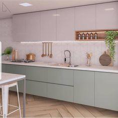 Home Interior Colors - Kitchen Decor Simple Kitchen Design, Ikea Kitchen Design, Kitchen Cabinet Design, Home Decor Kitchen, Kitchen Living, Interior Design Kitchen, Kitchen Furniture, New Kitchen, Home Kitchens