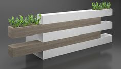 Reception Desk with Planters