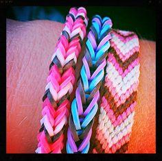 Rainbow Loom Bracelets Three-pin Fishtail and Two-pin Fishtail #Friendshipbracelets #rubberbandbracelet