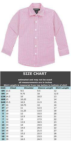 Spring Notion Baby Boys' Long Sleeve Gingham Shirt 3T Lemonade Pink