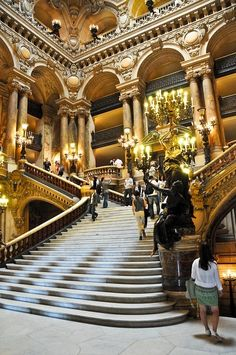 The Grand Staircase Palais Garnier Opera de Paris France