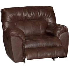 "51"" Chocolate Performance Fabric Chair & 1/2 Recliner"