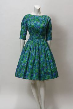 hold50s Dress // Vintage 1950s Party Dress // by hotcouturevintage