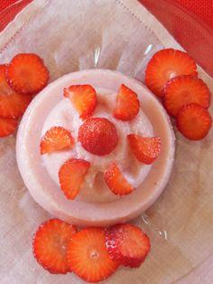 budino di fragole