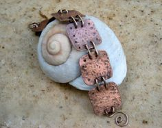 Neat idea for hammered mixed metals with patina