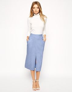 ASOS Linen Split Front Pencil Skirt $42.31 A great colour for all seasons, this ladylike skirt is a go-to staple.