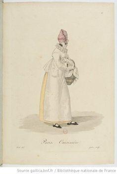 Cuisinière from Georges-Jacques Gatine, Costumes d'ouvrières parisiennes, 1824, BNF Paris