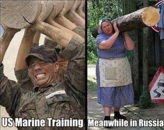 Funny Marine Russia Training Picture