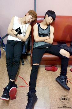 Bangtan Boys ❤ Hoseok (j-hope) & Jungkook (kook) | sleeping beauties!!