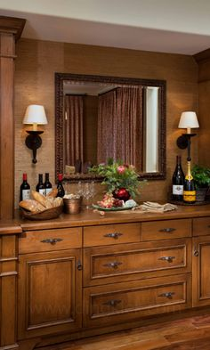 See This Traditional Built In Dining Room Bar And Buffet On HGTV