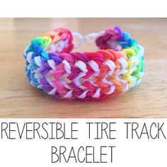 New Rainbow Loom bracelet I {TutorialsByA} invented : Tire Track! Tutorial coming soon... it will be pinned as soon as it's up