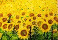 GIRASOLES Water Colors, Paintings, Sunflowers