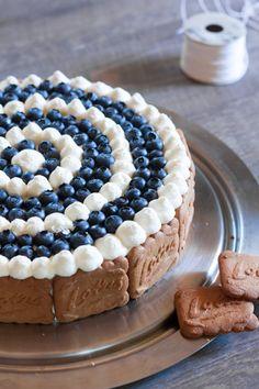 Cheesecake spéculoos myrtilles