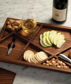 A Puzzle Tray of Newton's vineyard blocks with hidden corkscrew compartment and removeable coasters