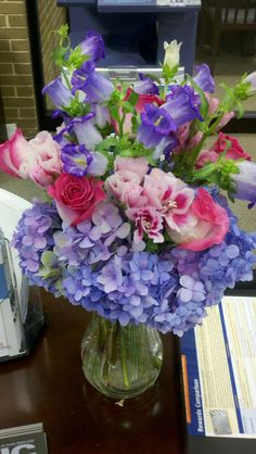 Angelique's birthday flowers 2012