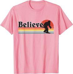 Amazon.com: Believe Sasquatch Outdoors Tee Retro Nature Hiking Bigfoot T-Shirt : Clothing, Shoes & Jewelry Bigfoot, Edgy Outfits, Hiking, Outdoors, Amazon, Retro, Tees, Clothing, Nature
