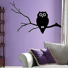 Cute Hoot Owl Vinyl Wall Decal Sticker