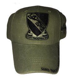 US Army 508th Parachute Infantry Regiment (PIR) Baseball Cap - Meach's Military Memorabilia & More
