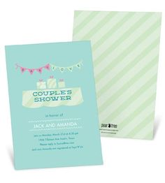 We are definitely doing a couples shower!  Couples Baby Shower Invitations -- Sweetly Strung Baby Love in Blue
