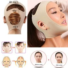 BeNewYorker ~ Produits ~ Delicate Facial Thin Face Mask Slimming Bandage Skin Care Belt Shape And Lift Reduce Double Chin Face Mask Face Thining Band ~ Shopify Christmas Makeup Look, Halloween Makeup Looks, Facial Implant, Maquillage Halloween Simple, Reduce Double Chin, Colorful Eye Makeup, Face Skin Care, Clean Face, Tips Belleza
