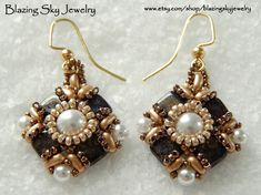 Beading Tutorial Grace Earrings Beading di BlazingSkyJewelry