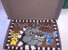 Go Bulldogs! American Cookie, Cookie Cakes, Cookie Designs, Bulldogs, Happy, Ser Feliz, Bulldog Breeds, Being Happy