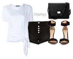 """""""Black/white"""" by briijanayy on Polyvore featuring River Island, Dolce&Gabbana, Gianvito Rossi, Aspinal of London, monochrome, CelebrityStylist, fashionstylist, briannacollins and brijanay"""