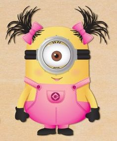 Ponytails in Pink Minion.too cute!