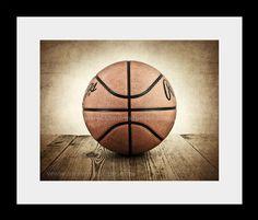Vintage Basketball on Barnwood Photo Print by shawnstpeter