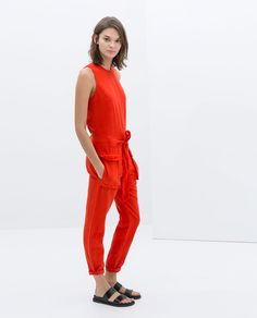 Sleeveless Jumpsuit Zara