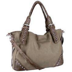 Crocodile Rhinestones Accent Oversized Double Handle Soft Hobo Shopper Tote Bag Satchel Handbag Purse $33.50