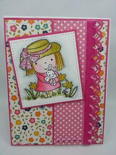 Watercolored Easter Mimi  Handmade Card by creationsbywendalyn, $7.00