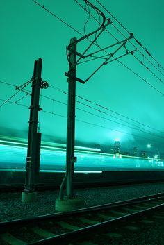 mpls light rail - For fyp - Mint Aesthetic, Aesthetic Colors, Aesthetic Pictures, Aesthetic Anime, Nocturne, Azul Tiffany, Light Rail, Urban Photography, City Lights