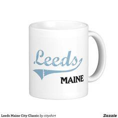 Leeds Maine City Classic Classic White Coffee Mug