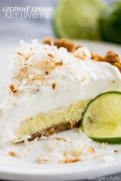 Coconut Cream Key Lime Pie