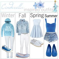 """""""Cinderella inspired outfits :)"""" by shannonstyles on Polyvore"""